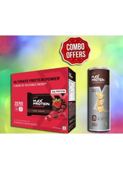 RiteBite Max Protein Ultimate Protein Bars 12BARS (600 g, Choco Berry) + RiteBite Max Protein Chips - Salt & Pepper 150g Protein Chips  (150 g, Salt & Pepper)
