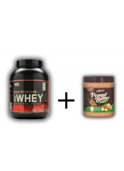 ON Gold Standard 100% Whey Protein 5 LBS + Alpino Natural Peanut Butter Smooth 1Kg