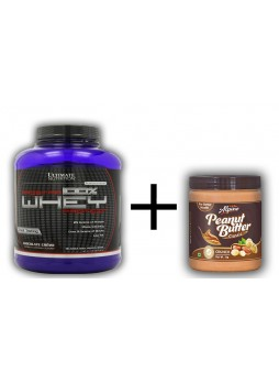 Ultimate Nutrition Prostar 100% whey protein 5.28 lbs + Alpino Classic Peanut Butter Crunch 1kg