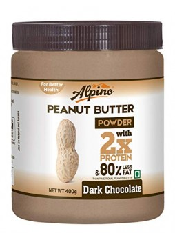 Alpino Dark Chocolate Peanut Butter Powder 400g