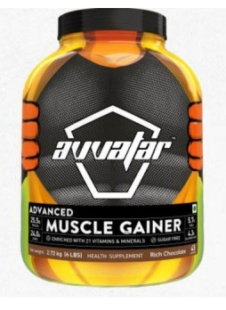 Avvatar Advanced 100% Muscle Gainer 3.3 lbs (1.5 Kg) Rich Chocolate
