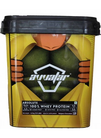 Avvatar Absolute 100% Whey Protein 4.5kg  (9.9lbs)  (Belgian Chocolate)