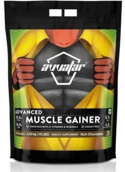 Avvatar Absolute 100% Muscle Gainer -10 lbs (4.53 kg) Rich Chocolate