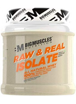 Bigmuscles Nutrition Raw & Real Isolate Whey Protein (Unflavoured 480 gm)