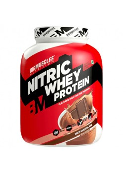 Big Muscle 100% Nitric Whey Protein 4.4 lbs