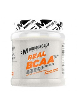 Bigmuscles Nutrition Real BCAA [50 Servings, Lemony] -100% Micronized Vegan, Muscle Recovery & Endurance BCAA Powder, 5 Grams of Amino Acids, Keto Friendly, Caffeine Free