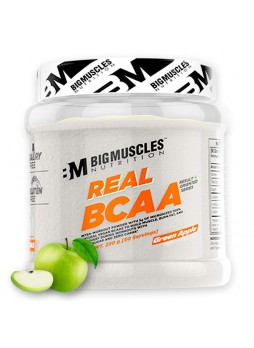 Bigmuscles Nutrition Real BCAA [50 Servings, Green Apple] -100% Micronized Vegan, Muscle Recovery & Endurance BCAA Powder, 5 Grams of Amino Acids, Keto Friendly, Caffeine Free