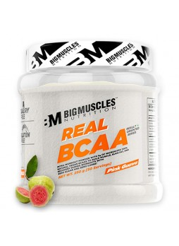 Bigmuscles Nutrition Real BCAA [50 Servings, Pink Guava] -100% Micronized Vegan, Muscle Recovery & Endurance BCAA Powder, 5 Grams of Amino Acids, Keto Friendly, Caffeine Free