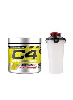 Cellucor C4 Original Explosive Pre-Workout Supplement -30SERVING (Fruit Punch) WITH SHAKER