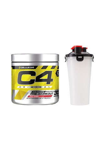 Cellucor C4 Original Explosive Pre-Workout Supplement -30SERVING (Fruit Punch) WITH SHAKKER