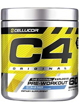 cellucor c4 original pre workout 60 serving (Icy Blue Razz)