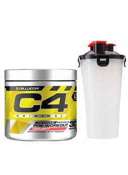 Cellucor C4 Original Explosive Pre-Workout Supplement ,30SERVING(CHERRY LIMEADE) WITH SHAKER