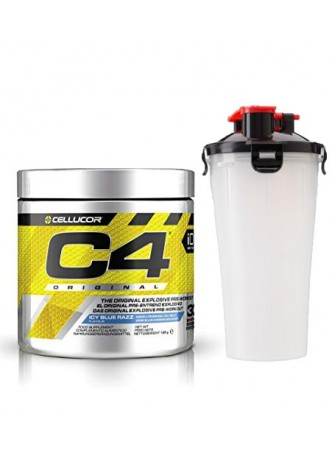 Cellucor C4 Original Explosive Pre-Workout Supplement ,30SERVING ICY BLUE RAZZ with shaker