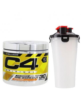 Cellucor C4 Original Explosive Pre-Workout Supplement ,30SERVING(ORANGE BURST) WITH SHAKER