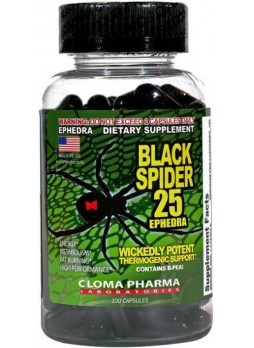 Cloma Pharma Black Spider Fat Burner 100 Capsules