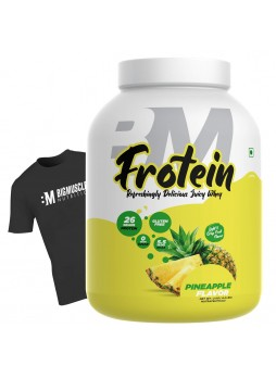 Bigmuscles Nutrition Frotein 26g Refreshing Pineapple Flavored Hydrolysed Whey Protein Isolate[59 Servings, 2 kg]