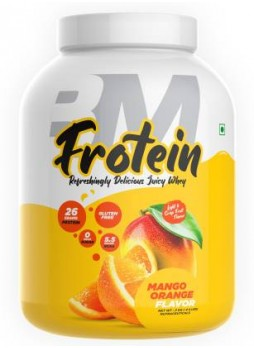 BIGMUSCLES NUTRITION Frotein [59 Servings], Refreshing Flavored 26g Hydrolysed Isolate Whey Protein  (2 kg, Mango - Orange)