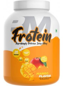 BIGMUSCLES NUTRITION Frotein [59 Servings], Refreshing Flavored 26g Hydrolysed Isolate Whey Protein  (2 kg, Mango)