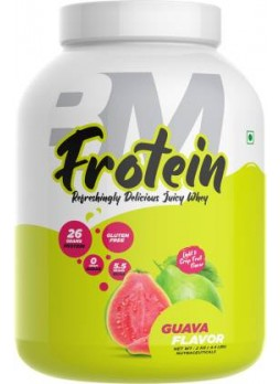 BIGMUSCLES NUTRITION Frotein [59 Servings], Refreshing Flavored 26g Hydrolysed Isolate Whey Protein  (2 kg, Guava)