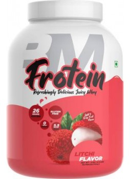 BIGMUSCLES NUTRITION Frotein [59 Servings], Refreshing Flavored 26g Hydrolysed Isolate Whey Protein  (2 kg, Litchi)