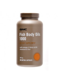GNC Fish Body Oils (1000 mg) 180 cap