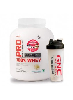 GNC Pro Performance 100% Whey Protein 2.2 lbs (1 Kg) with GNC Shaker