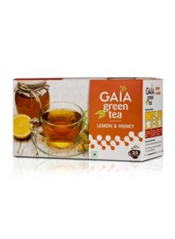 Gaia Green Tea Lemon & Honey 25 Teabags