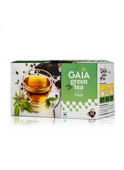 Gaia Green Tea Tulsi 25 Teabags