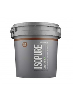 Isopure Low Carb 100% Whey Protein Isolate Powder with 25gm Protein per serve - 7.5 lbs, 3.4 kg Dutch Chocolate