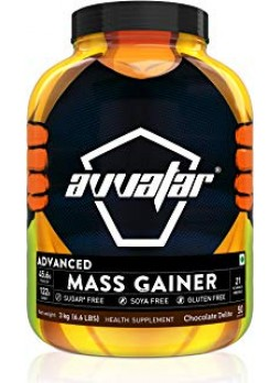 Avvatar Advanced Mass Gainer - 6.6 lbs (3 kg) Chocolate Delite
