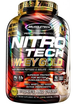 Muscletech Performance Series Nitrotech 100% Whey Gold Whey Protein 5.53 Lbs (2.51 kg)