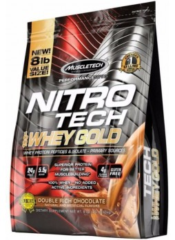 MuscleTech Nitrotech 100% Whey Gold, 8 lbs (3.63 kg) Double Rich Chocolate