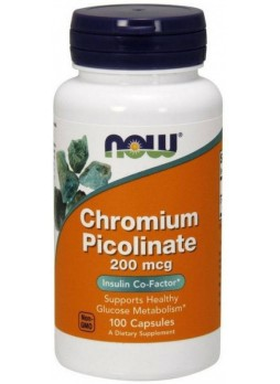 NOW CHROMIUM PICOLINATE 200 Mg 100 VEG CAPSULES