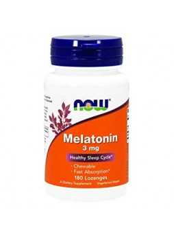 NOW MELATONIN 3 MG 180 VEG CAPSULES