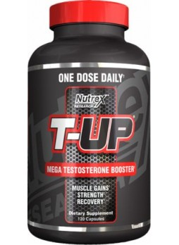 Nutrex T-UP Mega Testosterone Booster Supplement (120 Capsules)