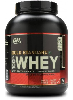 Optimum Nutrition (ON) Gold Standard 100% Whey Protein Powder - 5 lbs, 2.27 kg