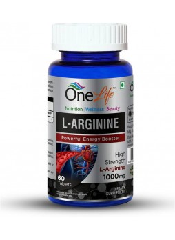 OneLife L-Arginine (Pre Workout Supplement) 60 Tablets 1000 Mg