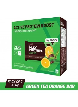 RiteBite Max Protein Active Protein Bars  (420 g, Green Tea Orange)