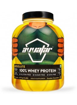 Avvatar Absolute 100% Whey Protein 5 lbs (2.27 kg) Double Chocolate