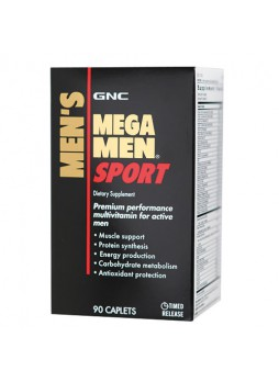 GNC Mega Men Sport, Unflavoured 90 caps
