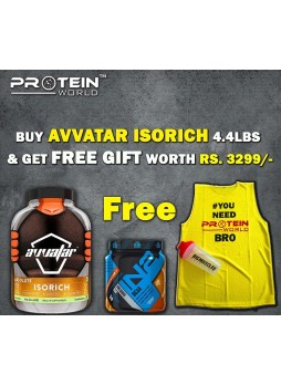 Avvatar Absolute ISORICH 4.4 Lbs (2 kg) + IN2 Nutrition BCAA 30 serving + SHAKER+ T-SHIRT