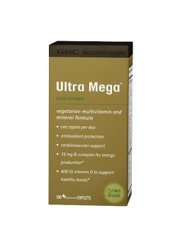 GNC Ultra Mega® Multivitamin (180 Vegetarian tabs)