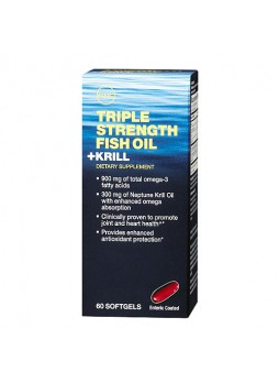GNC Triple Strength Fish Oil plus Krill, 60 softgels